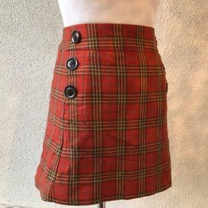 Gap Plaid Skirt